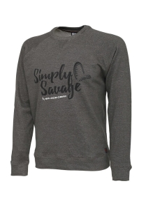 Savage Gear Simply Savage Sweater Melange Grey XXL