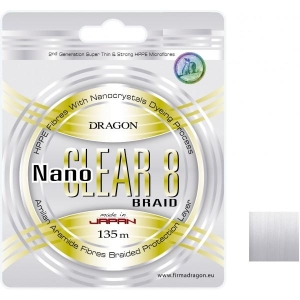 Plecionka Dragon Nano Clear 8 0,14mm/135m