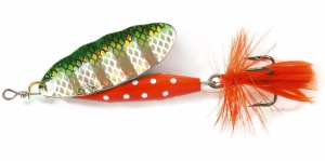 Obrotówka Abu Garcia Reflex Red 7g kolor Green Flash