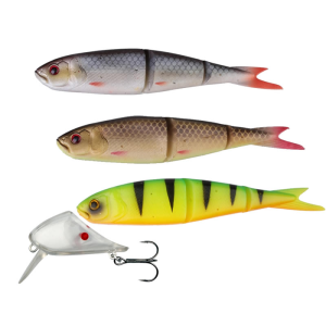 Savage Gear Zestaw Soft 4Play + Lip Scull Kit 3+1 19cm Roach/ Rudd/ Firetiger