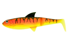 "Molix Pike Shad 7,5"" 18,5cm Only Body Red Yellow Tiger 2szt."