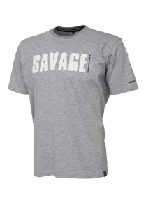 Savage Gear Simply Savage Tee Light Grey Melang XL