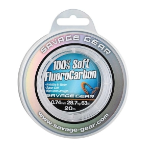 Savage Gear Soft Fluoro Carbon 0.74mm 20m 28.7kg